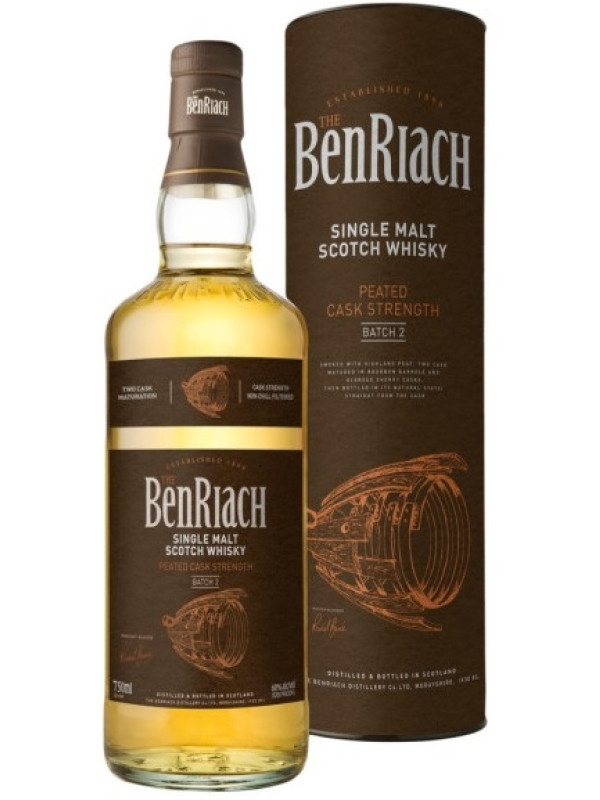 THE BENRIACH PEATED CASK STRENGTH BATCH 2 0.7L