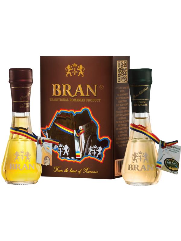 BRAN SET 2 ȚOIURI: PALINCĂ DE PRUNE 0.045L & RACHIU DE PRUNE 0.045L