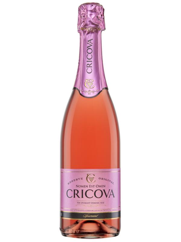 CRICOVA SPUMANT TRADIȚIONAL ROSE DEMISEC 0.75L