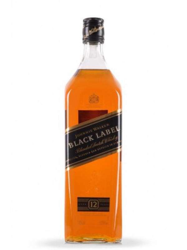 JOHNNIE WALKER BLACK LABEL WHISKY 1L