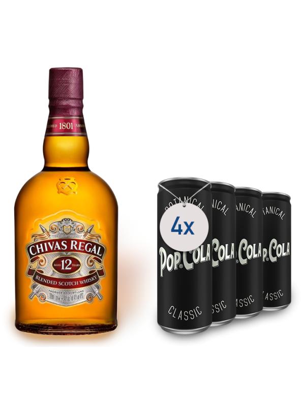 CHIVAS REGAL 12 ANI 0.7L + 4 POP COLA CLASSIC 0.33L