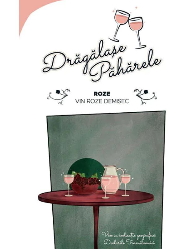 BAG IN BOX JIDVEI - DRĂGĂLAȘE PĂHĂRELE - ROSE DEMISEC 5L
