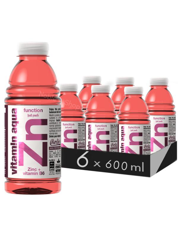 VITAMIN AQUA ZINC - PUNCH DE FRUCTE 0.6L X 6