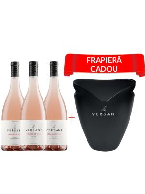 LE VERSANT GRENACHE ROSÉ 0.75L X 3 + FRAPIERĂ CADOU
