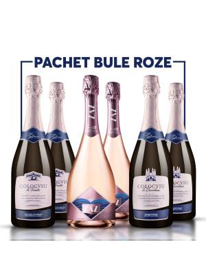 PACHET BULE ROZ + VOUCHER + 2 PAHARE
