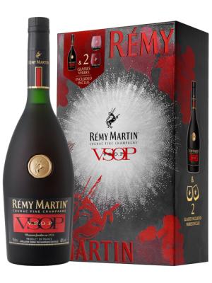 RÉMY MARTIN VSOP 0.7L + 2 PAHARE GIFT BOX