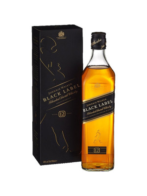 JOHNNIE WALKER BLACK LABEL WHISKY 12 ANI 0.7L