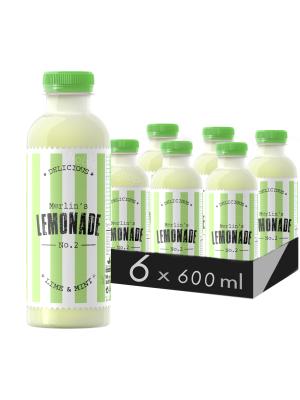 MERLIN'S LEMONADE N0.2 - LIME & MENTĂ 0.6L X 6