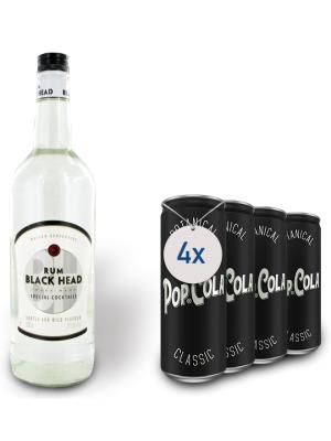 MAISON CENTENAIRE - BLACK HEAD WHITE RUM 1L + 4 POP COLA CLASSIC 0.33L