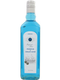 SLAUR BLUE CURACAO - IMPERIAL SILVER PREMIUM GIN 0.7L