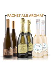 PACHET ALB AROMAT + VOUCHER + 2 PAHARE