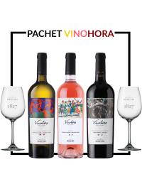 PACHET PURCARI VINOHORA + PAHARE CADOU